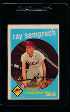 Load image into Gallery viewer, Scan of 1959 Topps 197 Ray Semproch EX
