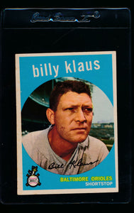 Scan of 1959 Topps 299 Billy Klaus EX