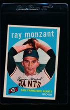 Load image into Gallery viewer, Scan of 1959 Topps 332 Ray Monzant EX