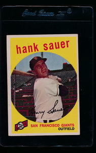 Scan of 1959 Topps 404 Hank Sauer EX (ST)