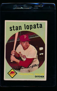Scan of 1959 Topps 412 Stan Lopata VG