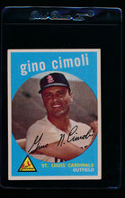 Load image into Gallery viewer, Scan of 1959 Topps 418 Gino Cimoli EX