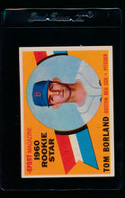 Load image into Gallery viewer, Scan of 1960 Topps 117 Tom Borland EX-MT