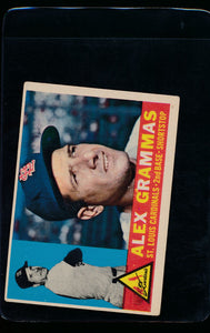 Scan of 1960 Topps 168 Alex Grammas VG