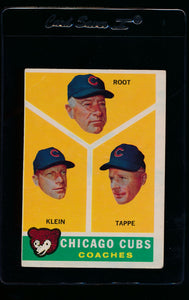 Scan of 1960 Topps 457 Cubs Coaches VG