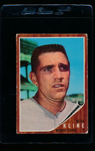 Scan of 1962 Topps 216 Ron Kline VG
