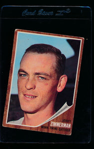 Scan of 1962 Topps 222 Jerry Zimmerman VG