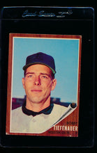 Load image into Gallery viewer, Scan of 1962 Topps 227 Bob Tiefenauer VG-EX