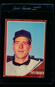 Scan of 1962 Topps 227 Bob Tiefenauer VG-EX