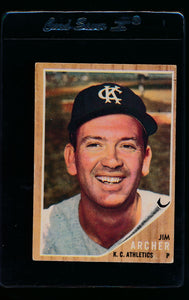 Scan of 1962 Topps 433 Jim Archer VG-EX