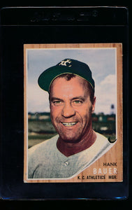 Scan of 1962 Topps 463 Hank Bauer MG VG