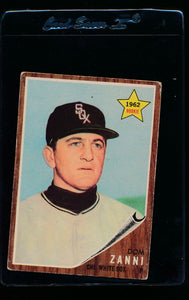 Scan of 1962 Topps 214 Dom Zanni VG
