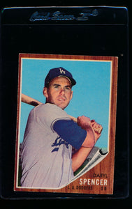 Scan of 1962 Topps 197 Daryl Spencer EX-MT