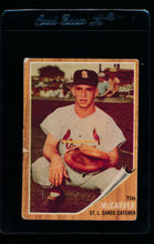 Load image into Gallery viewer, Scan of 1962 Topps 167 Tim McCarver RC G