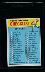 Scan of 1966 Topps 34 Checklist 1 VG-EX