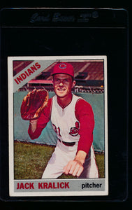 Scan of 1966 Topps 129 Jack Kralick EX