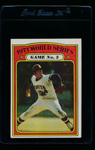 Load image into Gallery viewer, Scan of 1972 Topps 224 World Series Game 2/Dave Johnson/Mark Belanger EX-MT