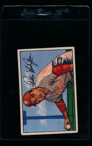 Scan of 1952 Bowman 16 Turk Lown RC VG-EX