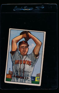 Scan of 1952 Bowman 28 Roy Hartsfield VG-EX