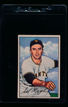 Load image into Gallery viewer, Scan of 1952 Bowman 66 Sal Maglie VG-EX