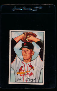 Scan of 1952 Bowman 134 Al Brazle VG-EX
