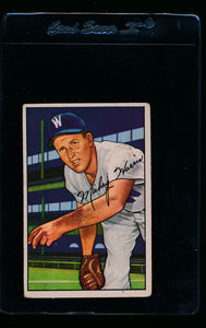 Scan of 1952 Bowman 135 Mickey Harris G