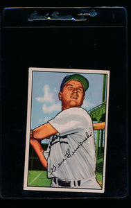 Scan of 1952 Bowman 136 Gene Hermanski EX