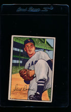 Load image into Gallery viewer, Scan of 1952 Bowman 165 Saul Rogovin RC G