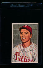 Load image into Gallery viewer, Scan of 1952 Bowman 184 Curt Simmons VG-EX