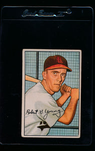 Scan of 1952 Bowman 193 Bobby Young RC G