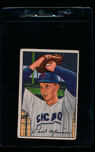 Scan of 1952 Bowman 211 Paul Minner RC G