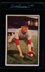 Scan of 1953 Bowman 26 Roy McMillan VG