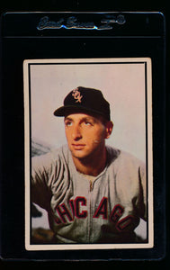 Scan of 1953 Bowman 75 Saul Rogovin VG-EX