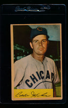 Load image into Gallery viewer, Scan of 1954 Bowman 61A Eddie Miksis/.954/.962 Fielding Avg. G