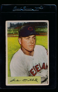 Scan of 1954 Bowman 148 Dale Mitchell G