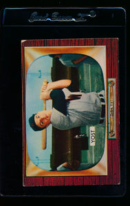 Scan of 1955 Bowman 73 Eddie Yost VG