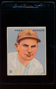 Scan of 1933 Goudey 190 Fred Schulte VG