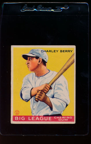Scan of 1933 Goudey 184 Charley Berry VG