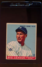 Load image into Gallery viewer, Scan of 1933 Goudey 134 Sam Rice VG-EX
