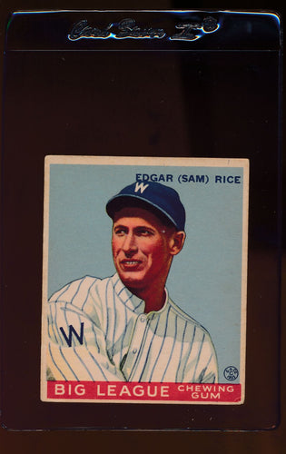 Scan of 1933 Goudey 134 Sam Rice VG-EX