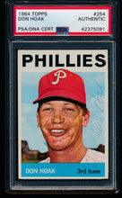 Load image into Gallery viewer, Scan of 1964 Topps 254 Don Hoak PSA/DNA Authentic