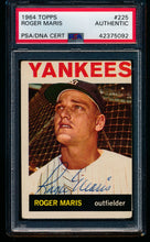 Load image into Gallery viewer, Scan of 1964 Topps 225 Roger Maris PSA/DNA Authentic