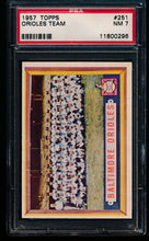 Load image into Gallery viewer, Scan of 1957 Topps 251 Orioles PSA 7 NM