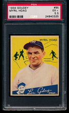 Load image into Gallery viewer, Scan of 1934 Goudey 95 Myril Hoag PSA 5.5 EX+