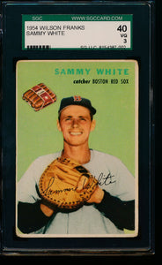 Scan of 1954 Wilson Franks 19 Sammy White SGC 40/3 VG
