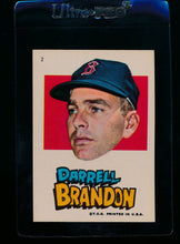 Load image into Gallery viewer, Scan of 1967 Topps Red Sox Stickers 2 Darrell Brandon EX-MT