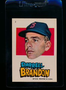 Scan of 1967 Topps Red Sox Stickers 2 Darrell Brandon EX-MT