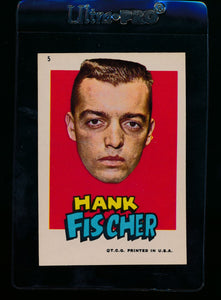 Scan of 1967 Topps Red Sox Stickers 5 Hank Fischer EX