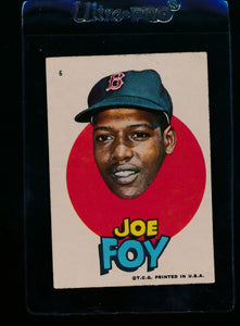 Scan of 1967 Topps Red Sox Stickers 6 Joe Foy VG