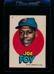 Scan of 1967 Topps Red Sox Stickers 6 Joe Foy EX